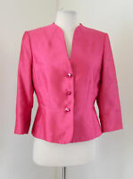 Tahari ASL Levine Pink Blazer Jacket Size 6 Career Evening Floral Buttons