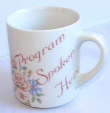Alcoholics Anonymous AA NA Vintage Program Spoken Here  Recovery Coffee Mug Cup