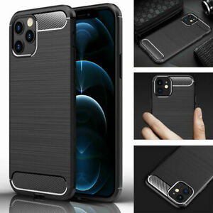 Silicon Soft TPU Luxury Carbon Fiber Texture Case For Apple Iphone All Model