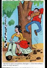 FEMME en SCOOTER TOUT TERRAIN , ACCIDENT ,,, illustré par A. GONDOT