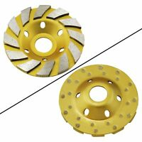 "Ocr TM 4"" Concrete Turbo Diamond Grinding Cup Wheel for Angle Grinder 12 Segs"