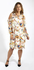 Lovedrobe GB Womens Plus Size Uk 28 Cold Shoulder Bird Print Blouse LS171 PP 08