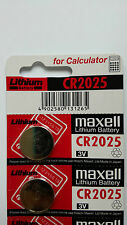 2 NEW CR2025 MAXELL 3V BATTERY - Free Shipping - Expiration Year: 10-2026