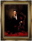 Healy Portrait of Abraham Lincoln 1869 Wood Framed Canvas Print Repro 18x24
