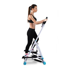 HOMCOM Stepper Fitness Exercise Handle Bar Machine Cardio Foldable Workout