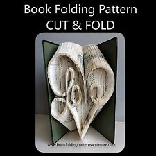 Book Folding Pattern - Mark Measure Cut & Fold Loveheart