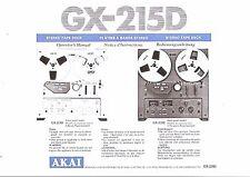 Akai  Bedienungsanleitung user manual owners manual  für GX-215 D