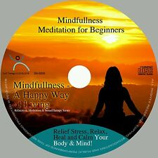 4x MINDFULLNESS MEDITATIONS ON 1 CD- FOR STRESS RELIEF CALMING BODY MIND SECONDS