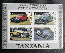 TIMBRES AUTOMOBILES : TANZANIE 1986 BLOC FEUILLET N° 42** Non Dentelé - TBE