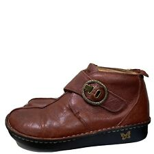 Alegria Womens CAT 604 Brown Leather Ankle Boots Size US 9.5 - 10 Euro 40 M
