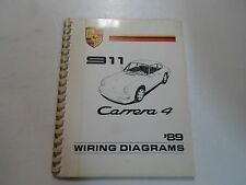 1989 Porsche 911 Carrera 4 Wiring Diagrams Manual MINOR STAINS FACTORY OEM DEAL
