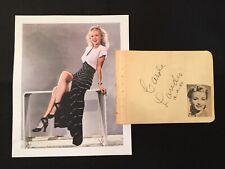 Original CAROLE LANDIS (d. 1948) Signed Album Page Autograph + Louise Allbritton
