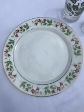 ROYAL NORFOLK 10-Inch Hollyberry Christmas Dinner Plate BUY ONE OR 30 $6 EACH