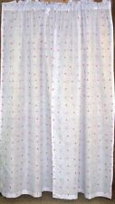 "(1) Pair Sandra Curtains ~ Purple Pink Floral ~ 85"" L x 42"" W ea Panel **NEW**"