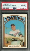 1972 Topps #51 Harmon Killebrew PSA 8 NM-MT