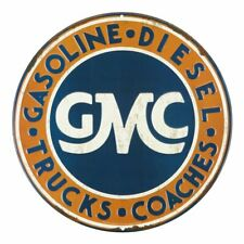 GMC Embossed Tin Metal Sign