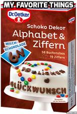 Dr Oetker COMESTIBLE Letras / Números en Chocolate Para Decoración De Tartas