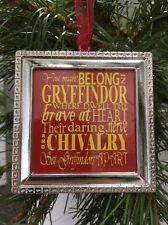 """Harry Potter Gryffindor poem Sorting hat song words Square 3"""" Ornament design"""