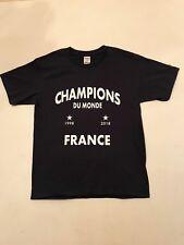 Tee Shirt France Champions du Monde 2018 / Drapeau / Livraison Gratuite