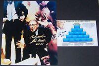 John Wooden UCLA Signed Autographed 8x10 Photo & 4x6 Pyramid of Success JSA LOA!