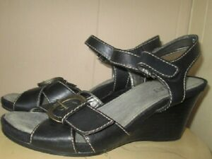 ARRAY Womens carmel Fabric Pointed Toe Casual Ankle Strap Size 6.5 Black//Black