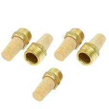 5Pcs 1/2'' Pneumatic Muffler Cone Filter Silencer Sintered Bronze Fitting
