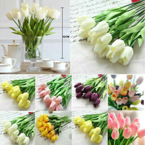 Artificial Tulips Flower Latex Real Touch Bridal Wedding Bouquet Home Decor Hot