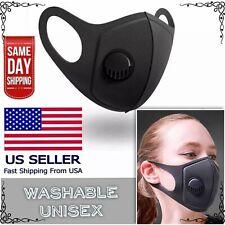 Lightweight Polyurethane Sponge Face Mask Reusable w/Air Filter Breathing Valve