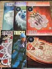 Lot de 6 Tricot Selection Special Crochet d'art - Catalogues Vintage 1973 1975