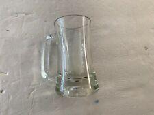 Glass Mug ~ Clear ~ unique base ~ Heavy