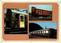 Eisenbahn AK DDR Sitzwagen Berlin, Güterwagen Magdeburg, Luxuszug Rheingold