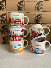 """HOT Starbucks york """"You Are Here Collection"""" Rome Paris London Coffee Mugs Cups"""