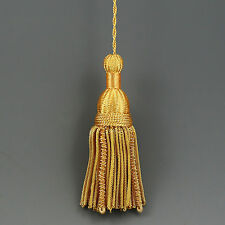 "5"" FRENCH GOLD METALLIC BULLION TASSEL TRIM PASSEMENTERIE VESTMENT CHURCH"