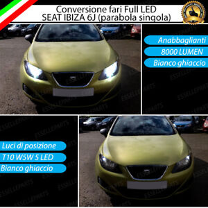 KIT LED SEAT IBIZA 6J MK4 CONVERSIONE ANABBAGLIANTI ABBAGLIANTI LUCI POSIZIONE