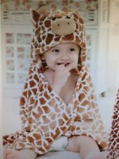 Giraffe Hooded Baby Towel Fleece bathrobe New