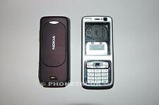 Original Nokia N73 Silver y ciruela Carcasa Teclado y batería grado de cobertura de un Estado