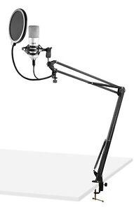 VONYX CMS300S USB Pro Podcast Set Studiomikrofon Großmembran Kondensatormikrofon