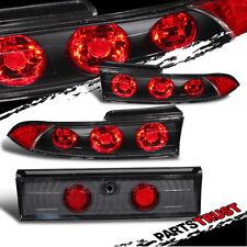 1995 1996 1997 1998 1999 Mitsubishi Eclipse RS/GS/GST/GSX Black Tail Lights New