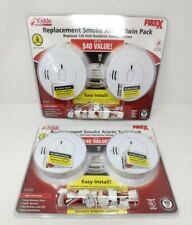 2 x 2-Pack Kidde FireX Hardwired Replacement Smoke Alarm + Battery Backup Lot