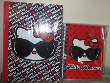 "New Set HELLO KITTY Stationery Student Notebook 10"" x 8"" + Journal  Loungefly"