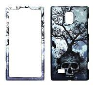 Night Skull Tree  for LG Spectrum 2 VS930  Rubberized  Case Cover .