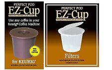 EZ-Cup for Keurig Coffee Machines w/ 50 EZ Cup Filters