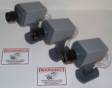 Fake Security Cam Dummy Zoom Camera 3 Lot + Free Decals
