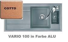 SystemCeram VARIO100 COTTO 100x51 Keramikspüle Terracotta inkl. Zubeh. & Bohrung
