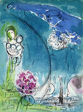 "1952 MARC CHAGALL ORIGINAL Color Lithograph ""Place de la Concord"" M83 Framed COA"