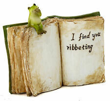 """""""I Find You Ribbeting"""" Book with Frog To 4829 Miniature Fairy Garden"""