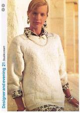 Double Crème Knitting Pattern, Pull-Marshall Cavendish brochure DE21