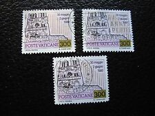 VATICAN - timbre yvert et tellier n° 721 x3 obl (A28) stamp (A)