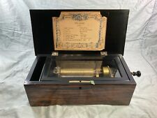 Super fine antique Swiss music box with 8 airs, working, lovely sound