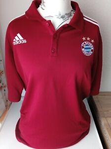 Adidas FC Bayern München Poloshirt< XL <Rot<Knopfleiste<wunderschöne Qualität!!!